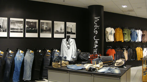The Nudie Jeans shop in shop at NK Stockholm