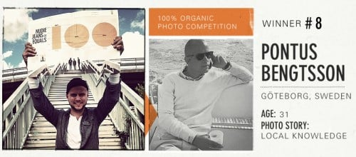 Pontus Bengtsson. Winner #8 100% Organic Competition