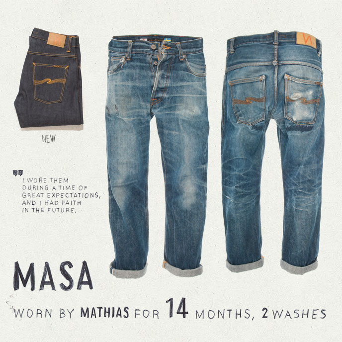Masa worn by Mathias for 14 months, washed twice.