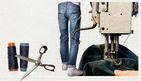We repair your Nudie jeans for free